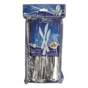 WNA Reflections™ Heavyweight Plastic Utensils, Knife, Polystyrene, Silver, 40/Pack (REF320KN)