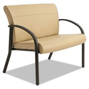 La-Z-Boy® Contract Gratzi Reception Series Bariatric Guest Chair, Antimicrobial Vinyl, Loop, Taupe (BLF14A,HUDTAUPE)