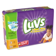 Luvs Diapers, Size 3, 4/Carton (85924)