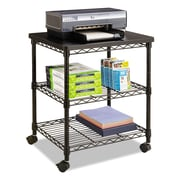 "Safco® Desk Side Wire Machine Stand, 24"" x 20"" (5207BL)"