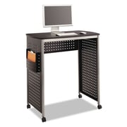 "Safco® Scoot™ Stand-Up Desk, 38 1/2"" x 23 1/4"" x 41 3/4"", Black (1908BL)"
