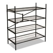 "Cosco® Instant Storage Shelving Unit, 4-Shelf, 47 3/4"", Black (66714BLK1E)"