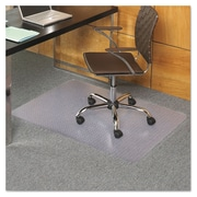 "ES Robbins® EverLife™ Chair Mats for Flat to Low Pile Carpet, 36"" X 44"", Carpets, Clear (121821)"
