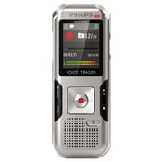 Philips® Voice Tracer 4000 Digital Recorder, 4 GB, Silver Shadow/Chrome (PSPDVT400000)