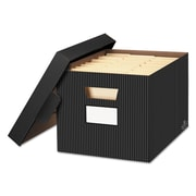 Bankers Box® STOR/FILE™ Decorative Medium-Duty Storage Boxes, Letter/Legal, Black/Gray, 4/Carton (0029803)
