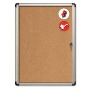 "MasterVision® Slim-Line Enclosed Cork Bulletin Board, Cork, 38"" X 28"" X 1 3/8"" (VT630101690)"