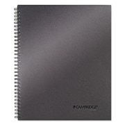Cambridge® Wirebound Business Notebook, Platinum, 1-Subjects, 8 7/8 x 11, Each (06328)
