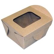 "Dixie® Windowed Food Container, 4 5/16"" x 3 5/8"" x 3 5/64"", 450/Carton (FF4X3X3)"