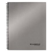 Cambridge® Wirebound Business Notebook, Silver, 1-Subjects, 8 7/8 x 11, Each (06327)