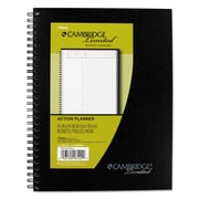 Cambridge® Wirebound Guided Business Notebook, Black, 1-Subjects, 7 1/4 x 9 1/2, Each (06122)