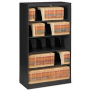 Tennsco Fixed Shelf Lateral File, 5 Drawer(s)5-Shelf, Black, Legal; Letter (FS350BL)