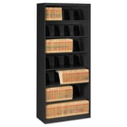 Tennsco Fixed Shelf Lateral File, 5 Drawer(s)5-Shelf, Black, Legal; Letter (FS370BL)