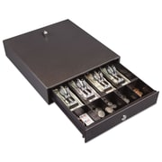 "FireKing® Hercules Cash Drawer, 13"" x 14 1/2"" x 3"", Steel, Charcoal Gray (FIRCD1314)"