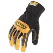 Ironclad Ranchworx® Leather Gloves, Medium, Black/Tan, 1/Pair (RWG2-03-M)
