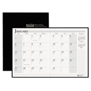 2015-2016, House of Doolittle™ Ruled 14-Month Planner with Stitched Leatherette Cover, Black (HOD2606-02)