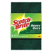 Scotch-Brite™ Heavy Duty Scouring Pad, Green, 72/Carton (MCO 223)