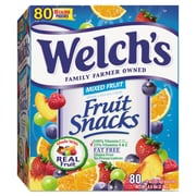 Welch's® Fruit Snacks, .9 oz, Mixed Fruit, 80/Box (919157)