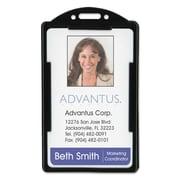 "Advantus® ID Card Holders, Black, 2 1/8"" x 3 3/8"", 25/Pack (75657)"