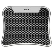 "Allsop® LED Glow Mousepad, Plastic/Rubber, 11"" x 8 9/10"" x 1/2"", Hexagon, Silver/Black (30918)"