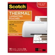 Scotch™ Laminating Pouches, 5 mil, 9 x 11 1/2, 100/Pack (TP5854100)