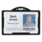 "Advantus® ID Card Holders, Black, 3 3/8"" x 2 1/8"", 25/Pack (75656)"