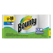 Bounty® Select-a-Size Perforated Roll Towels, 2-Ply, Perforated Roll, White, 105/Roll, 12/Pack (88212)