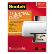 Scotch™ Laminating Pouches, 5 mil, 9 x 11 1/2, 50/Pack (TP585450)