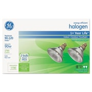 GE Energy-Efficient Halogen Bulb, 90 W, Crisp White, PAR38, 2/Pack (GEL66282)