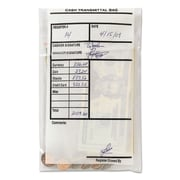 "MMF Industries™ Cash Transmittal Bags, 6"" x 1/2"" x 9"", Polyethylene, Clear (236006120)"