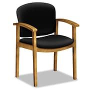 HON® 2111 Invitation® Reception Series Wood Guest Chair, 100% Olefin, Wide Sloping, Black (HON2111CCU10)