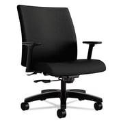 HON® Ignition® Series Big & Tall Mid-Back Work Chair, 100% Polyester, Fixed Arms, Black (HONIW801NT10)