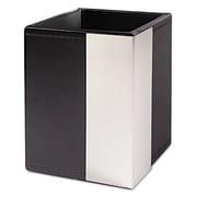 Artistic® Architect Line Pencil Cup, Black/Silver (ART43005)