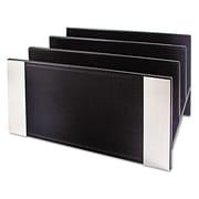 Artistic®, Architect Line Letter Sorter, 3 Compartments, 6 3/4 x 8 3/4 x 5, Black/Silver, Each (ART43003)
