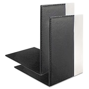 Artistic®, Architect Line Bookends, 6 3/4 X 6 3/4 X 5, Black/Silver, 1/Pair (ART43008)