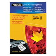 Fellowes® Laminator Cleaning Sheets, 7-10 mil, 8 1/2 x 11, 10/Pack (5320603)