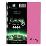 Roaring Spring® Genesis Shades® Notebook, Pink, 1-Subjects, 8 1/2 x 11, Each (12241)