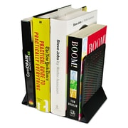 Artistic®, Urban Collection Punched Metal Bookends, 6 1/2 x 6 1/2 x 5 1/2, Black, Each (ART20008)