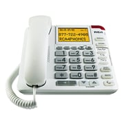 RCA® 11241WTGA One-Line Amplified Big Button Corded Phone, White (1124-WTGA)