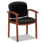 HON® 2111 Invitation® Reception Series Wood Guest Chair, 100% Olefin, Wide Sloping, Black (HON2111JCU10)