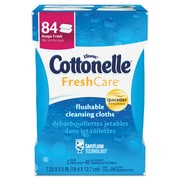 "Cottonelle® Fresh Care Flushable Cleansing Cloths, 3.73"" x 5.5"", White, 84/Pack (35970)"