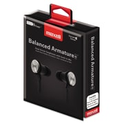Maxell® BA-1 Balanced Armature Earphones with In-line Mic, Black (MAX190633)