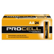 Duracell® Procell® Alkaline Batteries, AA, 24/Box (PC1500BKD)