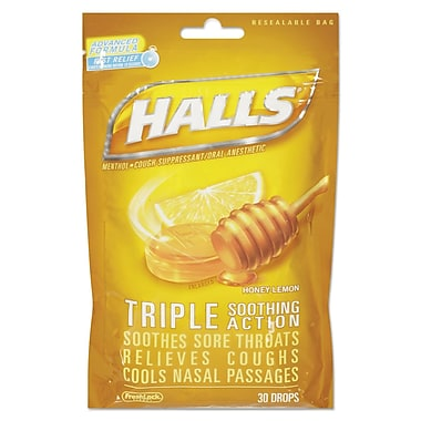 Halls® Triple Action Cough Drops, 4/Box (312546628694)