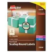"Avery® Round Labels, 2 1/2"" dia., 72/Pack (7278222836)"