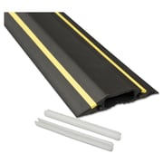 D-Line® Medium-Duty Floor Cable Cover, Cord Concealer, 6 ft, Black with Yellow Hazard Stripe (FC83H)