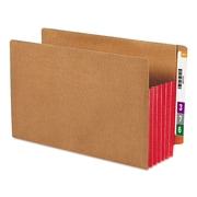 Smead® Redrope Drop-Front End Tab File Pockets with Colored Tyvek® Gussets, Red, Legal, 10/Box (74696)