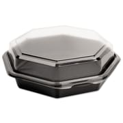 SOLO® Cup Company OctaView® Hinged-Lid Cold Food Containers, 21 oz, Black/Clear, 100/carton (SCC 865611-PS94)