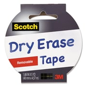 "Scotch® Dry Erase Tape, 1.88"" x 5 yds, White, Each (1905R-DE-WHT)"