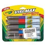 Crayola® Dry Erase Marker, Chisel, Assorted, 1/Set (988900)