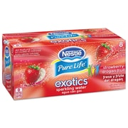 Nestle Waters® Pure Life® Exotics™ Sparkling Water, Strawberry Dragonfruit, 12 oz Can, 24/Carton (12252792)